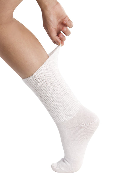 Full Freedom Mild Compression Socks - White | Adaptive Clothing by Ovidis