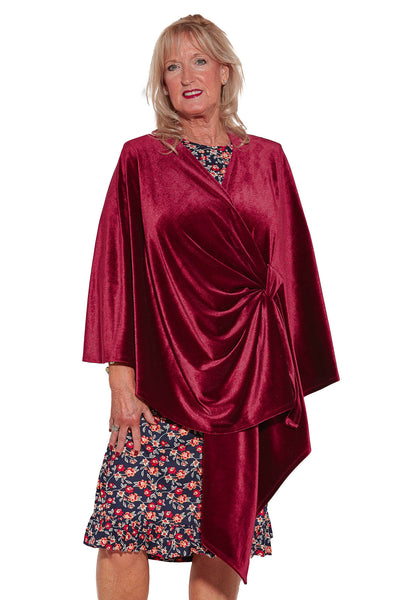 Shawl - Fuchsia | Velvety | Adaptive Clothing by Ovidis