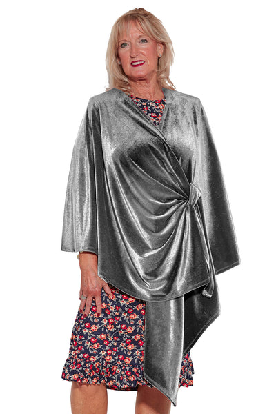 Shawl - Silver | Velvety | Adaptive Clothing by Ovidis