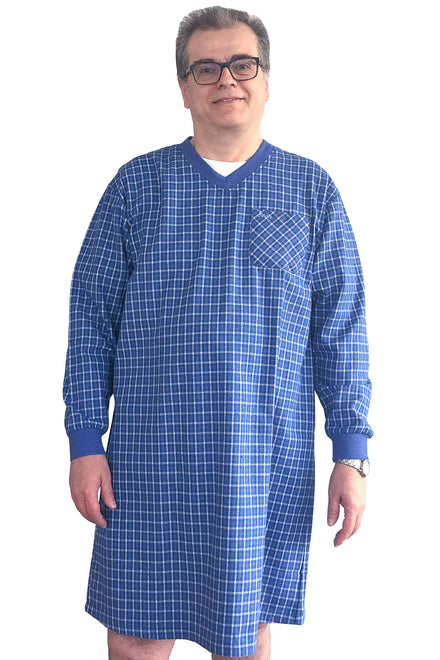 Nightshirt for Men - Blue | Milo | Adaptive Clothing by Ovidis