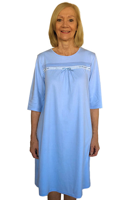 Nightgown for Women - Blue | Olivia | Adaptive Clothing by Ovidis