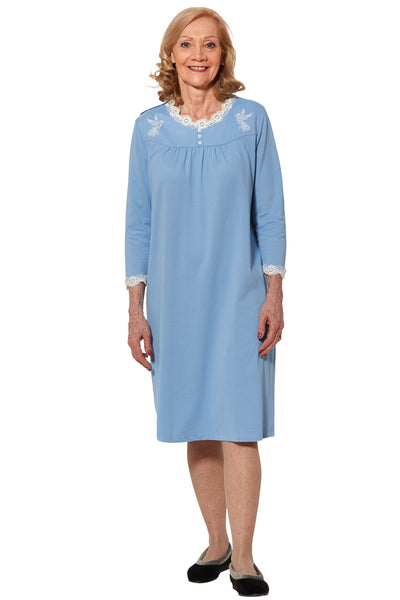 Nightgown for Women - Blue | Sandy | Adaptive Clothing by Ovidis
