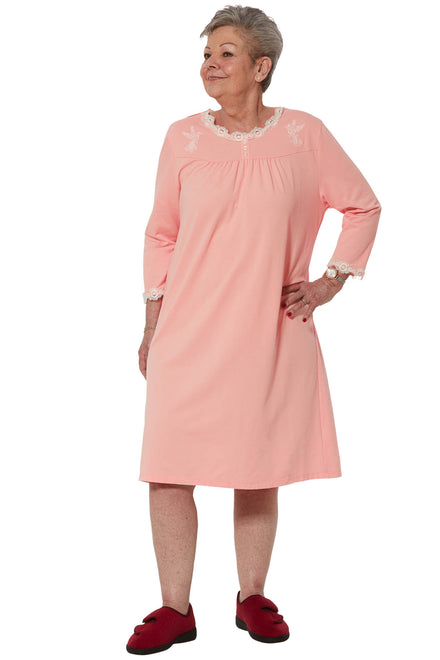 Nightgown for Women - Pink | Sandy | Adaptive Clothing by Ovidis