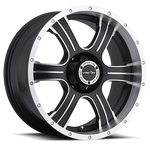 Vision Wheel 396 Assassin 20x9 Matte Black Machined Face 5-5