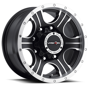 Vision Wheel 396 Assassin 20x9 Matte Black Machined Face 8-6.5