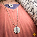 TOKEN STATE NECKLACE >> Silver Ball Chain w/ NJ State Charm
