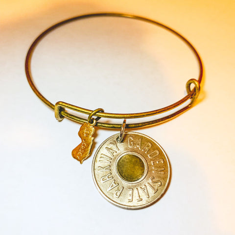 TOKEN STATE BANGLE >> w/ New Jersey State Charm