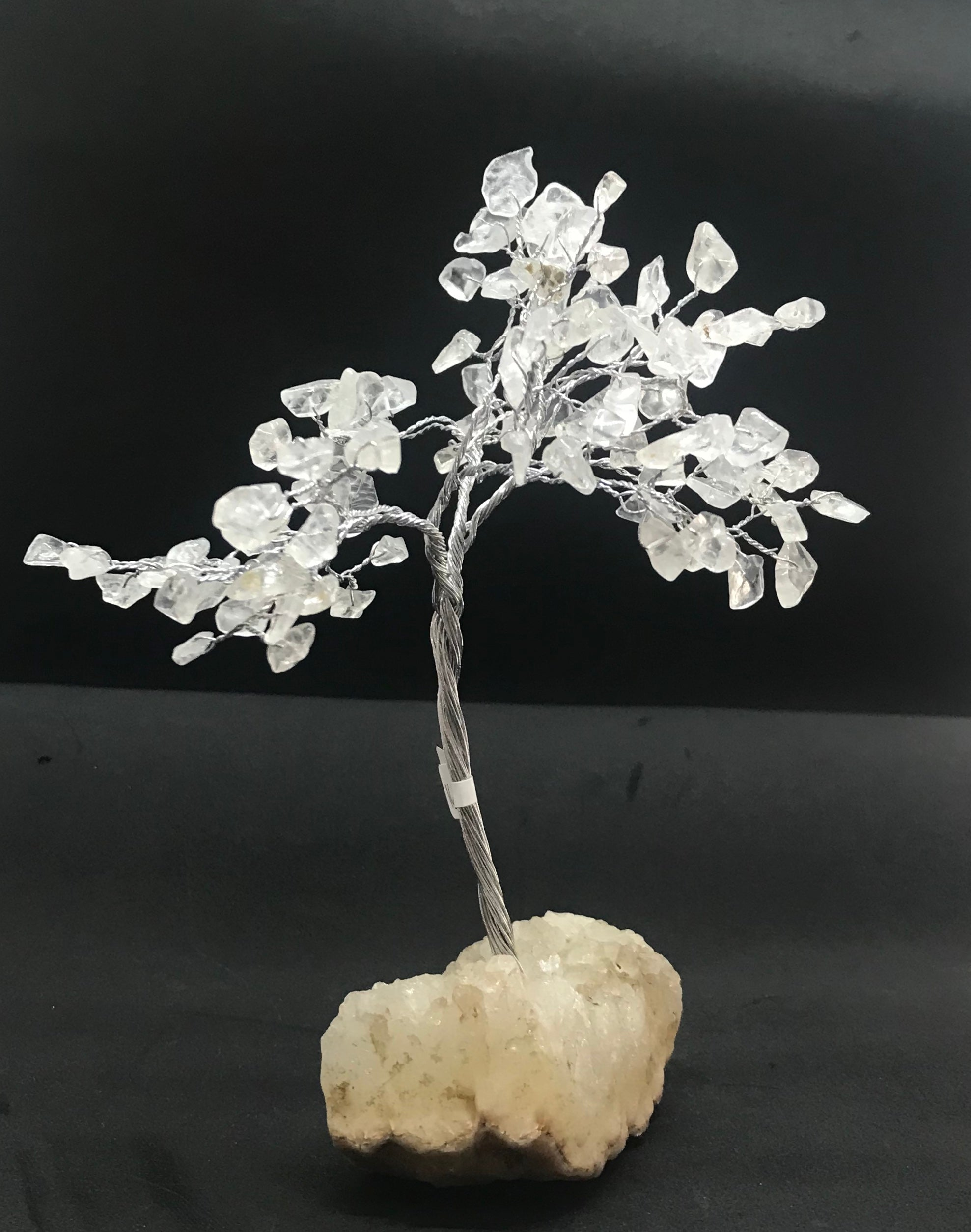 Small gem tree on zeolite crystal