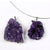 Silver Plated Amethyst Druze Pendant - Michael's Gems and Glass