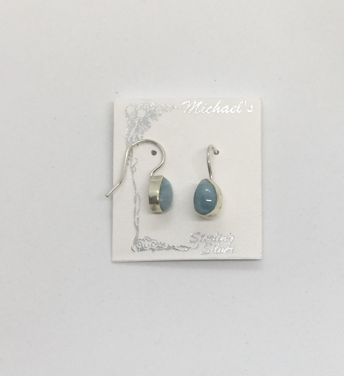 Larimar Stationary Teardrop Earrings - Michael's Gems and Glass