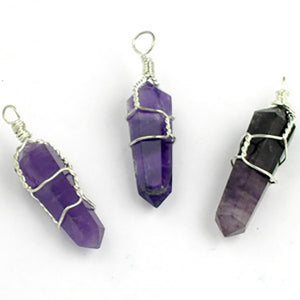 Wire Wrapped Double Terminated Point Pendants - Michael's Gems and Glass