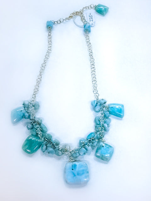 Larimar Free Form Necklace