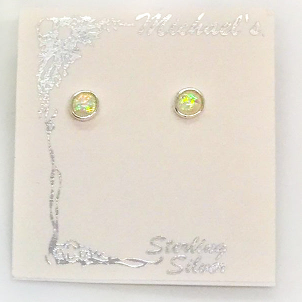 Opal Post Earrings