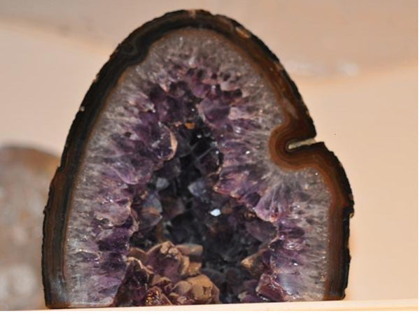 Amethyst Geode with Banded Agate