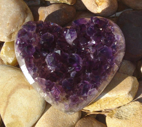 Amethyst Heart - Michael's Gems and Glass