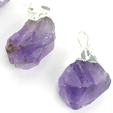 Silver Plated Amethyst Pendant - Michael's Gems and Glass