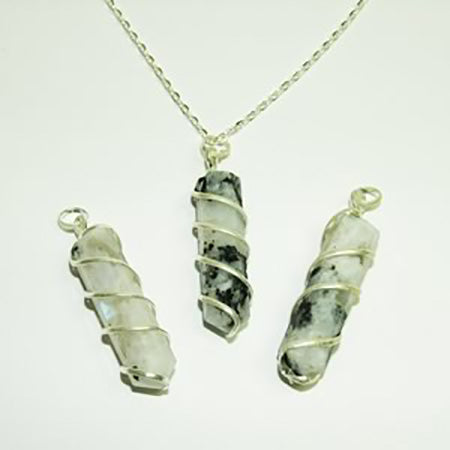 Coil Wrapped Pendants - Michael's Gems and Glass