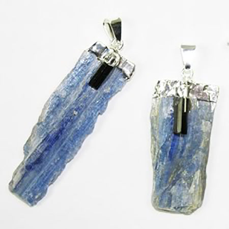 Silver Plated Kyanite Pendants - Michael's Gems and Glass