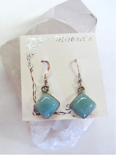 Larimar Square Earrings - Michael's Gems and Glass