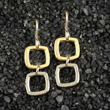 Double Baby Geo Open Square Earring