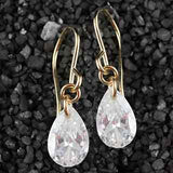 Solitaire Pear CZ Earrings