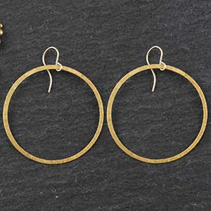 Flat Ring Earrings : 5 sizes