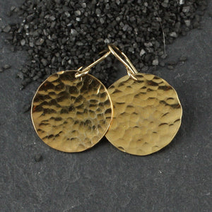 Hammered Disc Earring - 4 sizes!