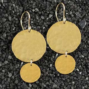Big over Little Hammered Disc Earring
