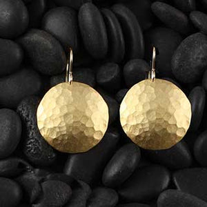 Hammered Domed Earring