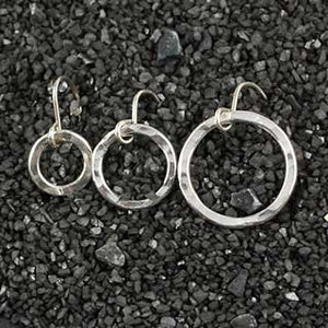 Heavy Hammered Ring Earring - 3 sizes!