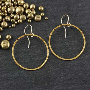 Hammered Ring Earrings : 5 sizes