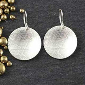Brushed Disc Earring - 3 sizes!