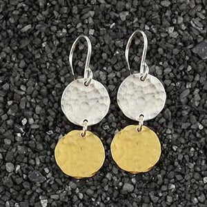 Double Hammered Disc Earring