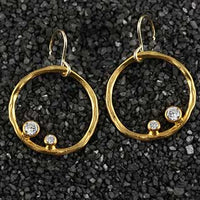 Twiggy Earring with Two Gems