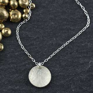 Baby Geo Disc Necklace