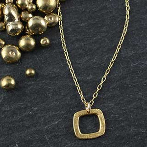 Baby Geo Square Necklace