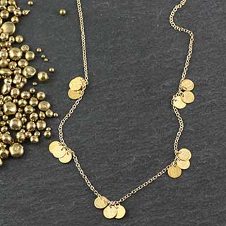 Tiny Golden Dot Sets Necklace