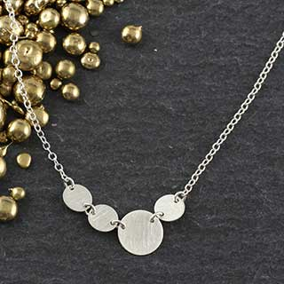 Linked Sterling Dots Necklace