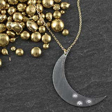 Crescent Moon with Tiny CZs Necklace