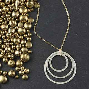 Triple Flat Ring Necklace