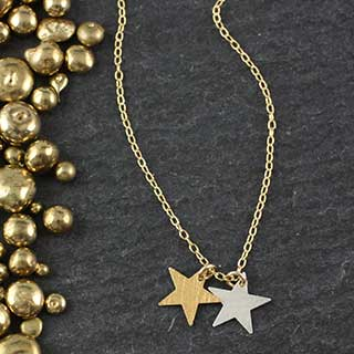 Double Tiny Star Necklace