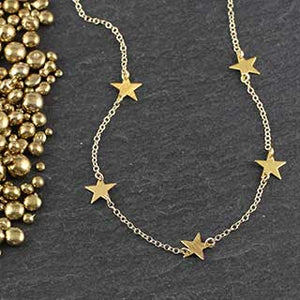 Five Tiny Star Necklace