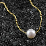 Pearl Solitare Necklace