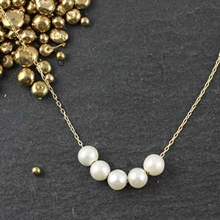 5 Floating Pearl Necklace
