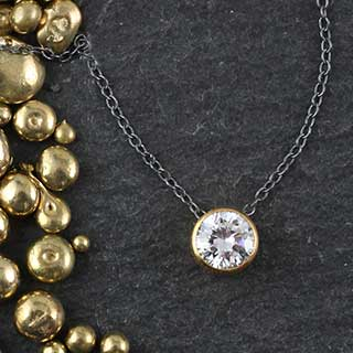 Floating Solitare Necklace