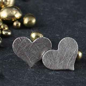 Small Heart Post Earrings