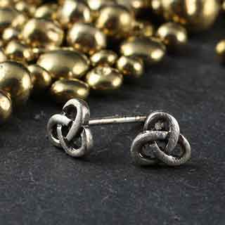 Tiny Knot Post Earrings