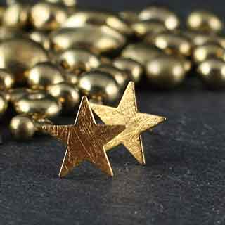 Small Star Post Earrings