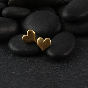 Tiny Puff Heart Post Earrings