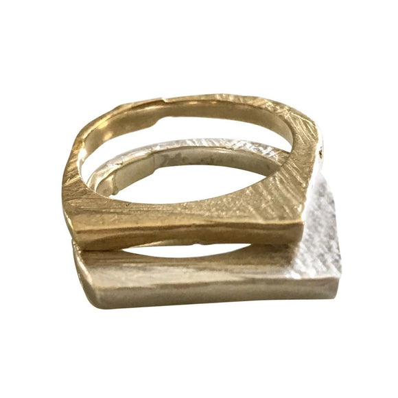 textured stacking ring by Georgia Varidakis.